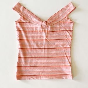 Hollister size small pink striped tank 100% cotton